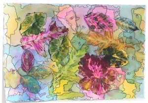 leaf print 1 - 2