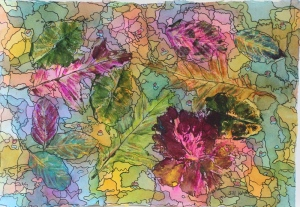 leaf print 1 - 4