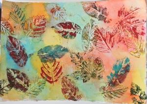 leaf print 2 - 1