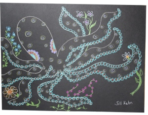 my octopus on black paper