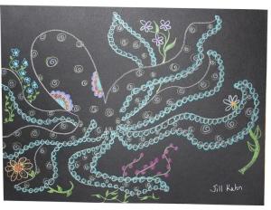 my octopus on black paper
