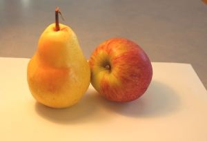 Pear and apple photo