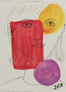 face over colored shapes - 1