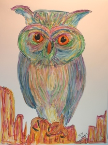 My wild owl completed